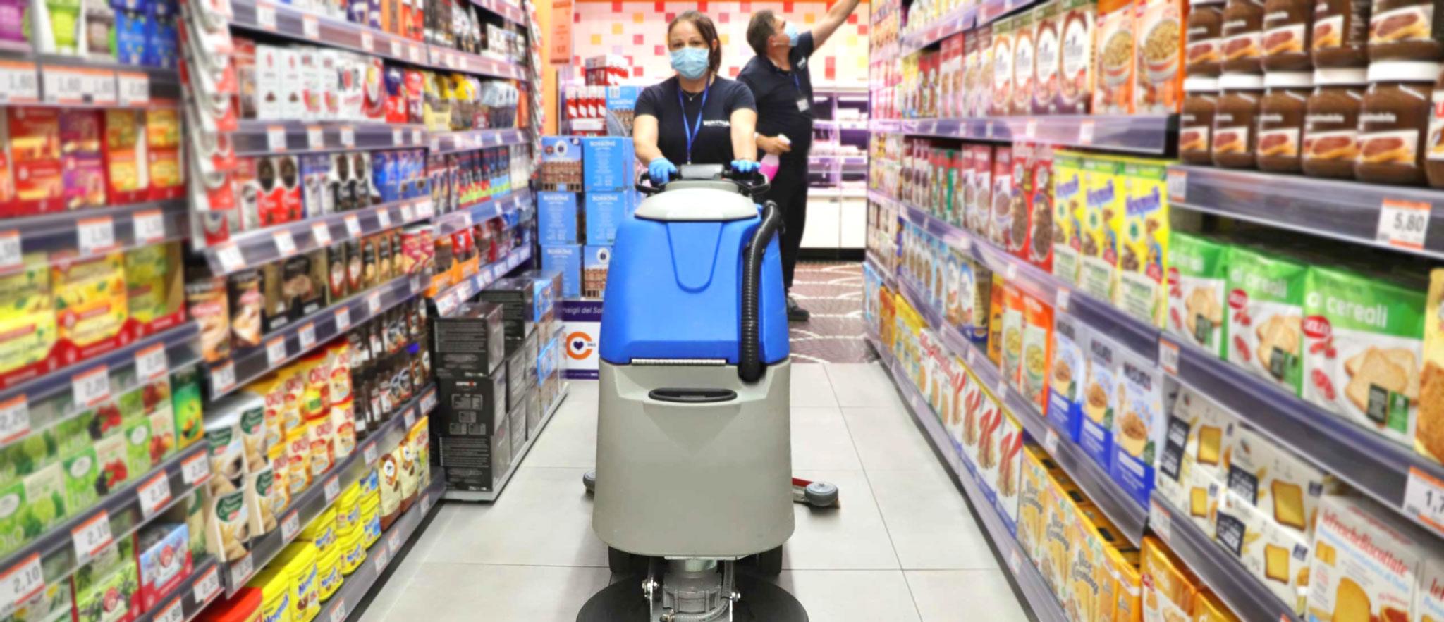 Ventura pulisce Supermercati e attività commerciali